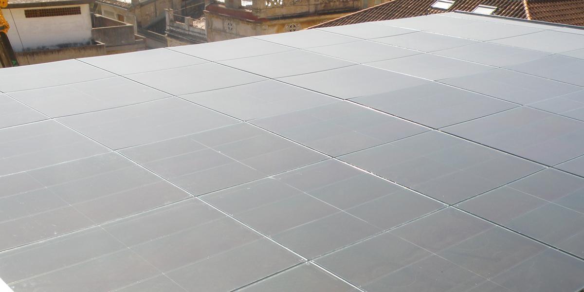 alzira town hall photovoltaic skylight onyx solar
