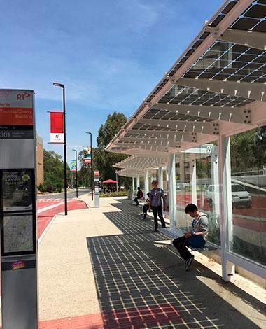 la trobe university photovoltaic canopy onyx solar