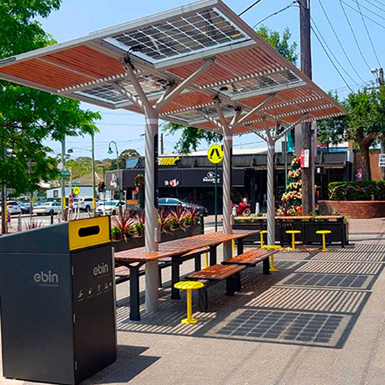 PHOTOVOLTAIC STREET FURNITURE - SIDNEY