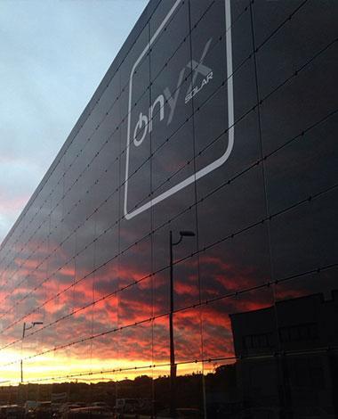 onyx solar photovoltaic façade