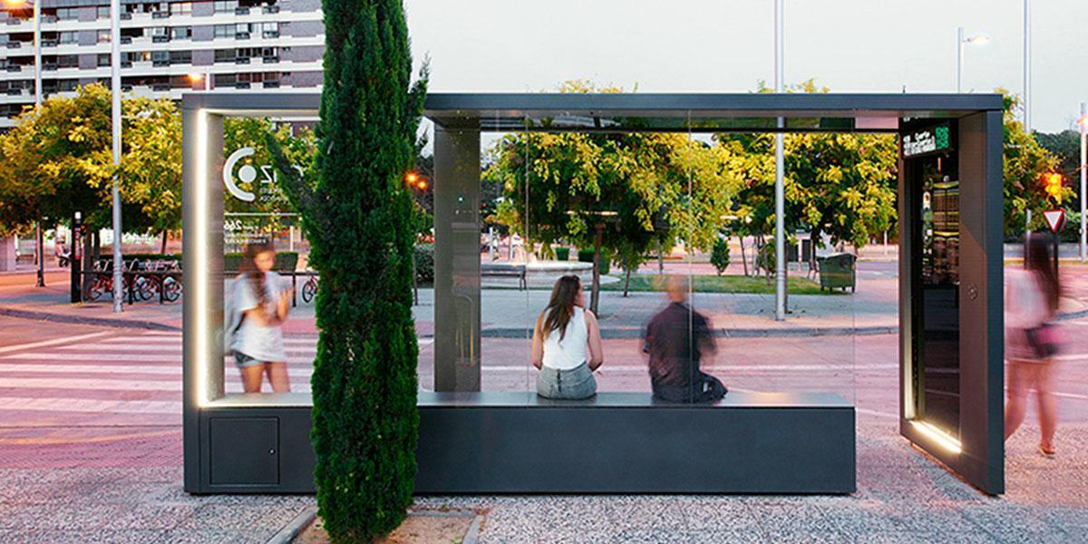 PV bus stop onyx solar