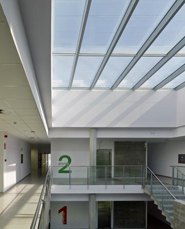 lucia building photovoltaic skyligth onyx solar