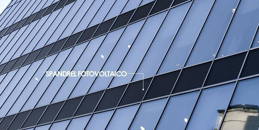 spandrel fotovoltaico onyx solar edificio