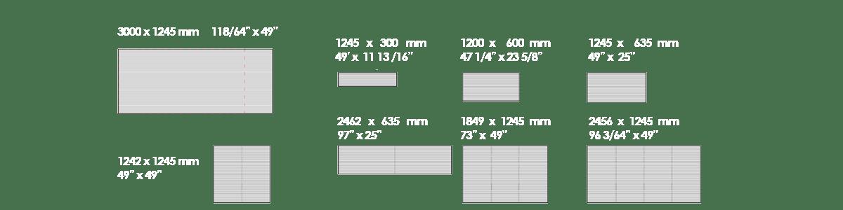 Medidas estándar del vidrio fotovoltaico