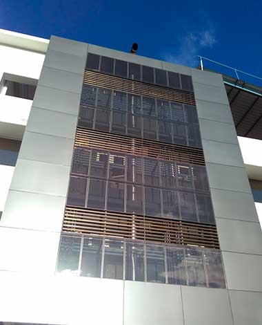 sierra e-facility photovoltaic curtain wall onyx solar